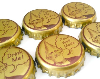 "6-pack of Magnets - Cone Head with Funny Sayings - ""Pop My Top"" ""Drink Me"" ""Twist & Shout"""