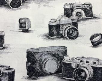 Vintage Cameras- Fabric BTY