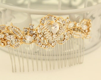 Wedding accessories,Gold Wedding hair comb,Wedding hair piece,Wedding hair accessories gold,Bridal hair comb,Wedding comb gold,Bridal comb