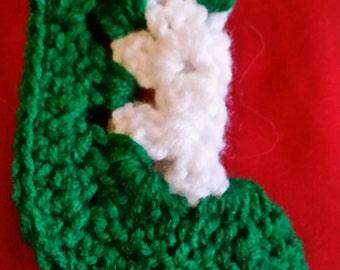Mini Granny Square Stocking Christmas Ornament RTS