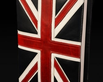 Leather Journal, United Kingdom Flag, British Flag Journal: Union Jack Journal