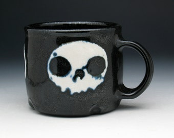 Skull Coffee Mug, Triple Skulls Tea Cup
