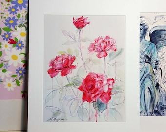 Red Roses Print 11 x 14