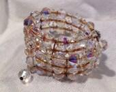 Vintage Downton Abbey Crystal Bracelet Aurora Borealis Wedding