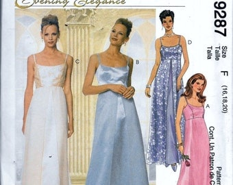 McCall's 9287 Misses' Dress and Scarf Evening Elegance Sewing Pattern Plus Size 16, 18 and 20