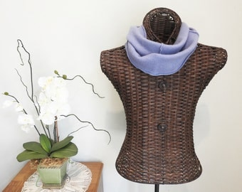 Cashmere Infinity Scarf MORNING GLORY Periwinkle Blue - Lavender Upcycled Felted Cashmere Cowl by WormeWoole