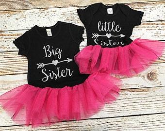 Big Sister Little Sister matching shirts- Big sister Little Sister Outfits- Big Sister Announcement shirt- Little Sister outfit