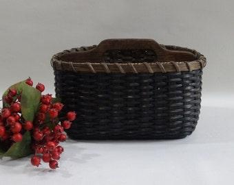 Paper Plate - Silverware Basket / Handwoven Basket/Organizer/Primitive Style Basket