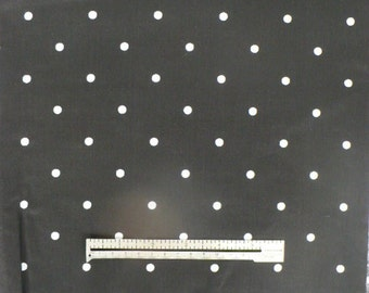 BLACK DOTTED FABRIC