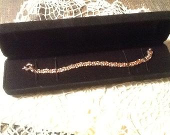 Byzantine Bracelet 14k Rose Gold Fine Jewelry Gorgeous Gift