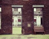 Architectural Decor, Train Theme Decor, Courtyard Photograph