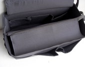 Purse organizer for Louis Vuitton Neverfull GM with Zipper closure- Bag organizer insert in Charcoal gray