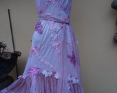 "20% OFF vintage inspired soft pink slip dress with lace ruffles and shabby details....small to 36"" bust"