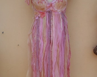 "20%OFF boudoir burlesque bohemian gypsy pixie boho shabby bra top..,,medium to 36"" bust..."