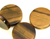 4 pcs Tiger's Eye 12 mm round coin cabochon thickness 2 mm  CB120
