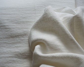 Pure Soft Linen fabric already washed/linen white fabric