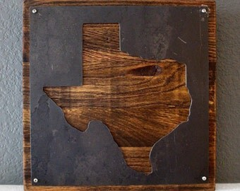 Charmant Oak Texas Wall Decor