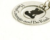 Personalized Have Courage and be Kind Cinderella quote necklace