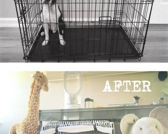 Zebra Black & White Stripes Designer Dog Pet Wire Kennel Crate House COVER Only Perfect Accessory Many Sizes to choose