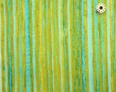 "Laura Gunn - ""Skinny Stripe"" in aqua (DC-4271) - Michael Miller Fabrics"