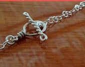 SALE** sterling silver Toggle clasp , handcrafted clasp, handmade findings, jewelry making supplies,bracelet clasp, necklace clasp, heavy...