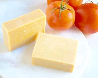 Tomato Soap; Coconut Oil Free; Clear Complexion Soap; Double Butter Soap; Bentonite Clay Soap; Acne Soap; Acne Face Wash; Sensitive Skin