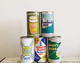 Vintage Beer Cans - Beer Collectibles - 1970s