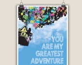 You are my greatest adventure - Disney Up inspired - Instant Download Print