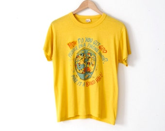 vintage graphic t-shirt, thin yellow tee Phone Booth Bingo Hall