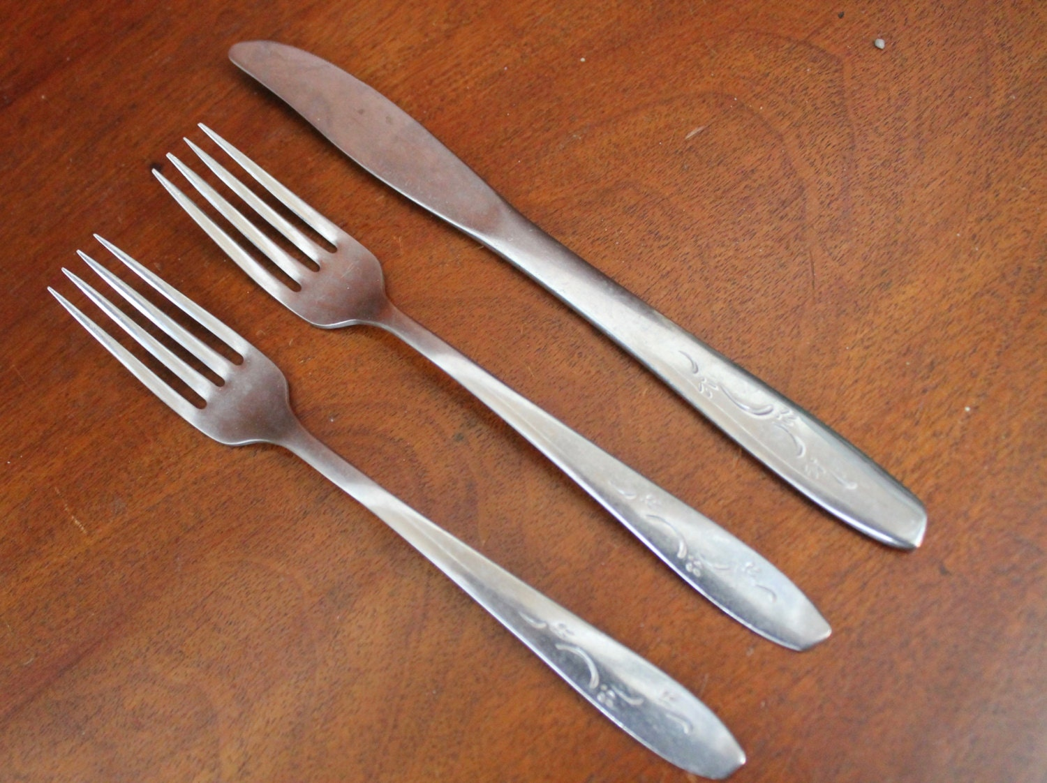 Modern flatware marked silco stainless steel by atomicholiday - Contemporary stainless flatware ...