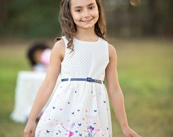 Spring & Summer Girls Boutique Dresses, Birthday Dress, Party Dress, Summer Dress, Spring Dress, Back to School Dress, Butterflies(BODR275)