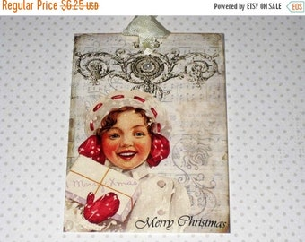 Christmas in July Vintage Christmas GiftTag ECS