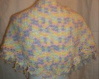 Crochet Tulip Shawl (A04)