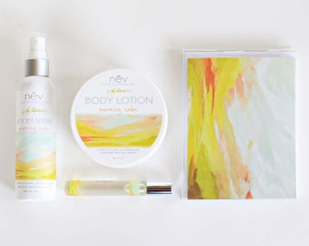 """Bath and Beauty Gift Set - Luxury Gift Set - Lotion and Home Fragrance Gift Set - """"Morning Calm"""""""