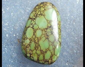 Gemstone Turquoise Pendant Bead,Cabochon(no drilling),38x23x5mm,9.1g