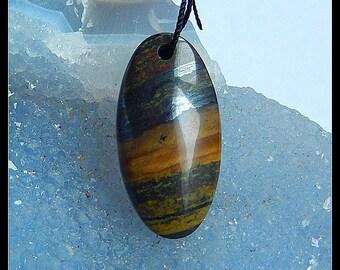 Iron Tiger'eye Pendant Beads,Gemstone Beads,30x15x7mm,29.5ct