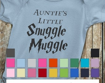 Harry Potter Onesie, Auntie's Little Snuggle Muggle, Harry Potter Baby, Harry Potter Baby shirt, Auntie onesie, Auntie to be gift