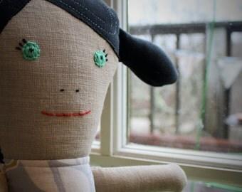 Eco friendly rag doll, eco friendly cloth doll, eco friendly toy, handmade doll