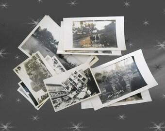 Vintage WWII Photos 40s South Pacific - 12 Photos & Photo Postcards - New Guinea - Resale Lot