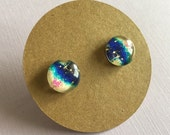 Titanium, Galaxy Earrings, Blue and Pink, perfect for sensitive ears