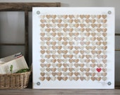 Unique wedding guest book framed wall art - Guest book alternative - 3D Guest book, 3D Heart Guestbook - Rustic wedding, signature book