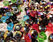 0.25 lbs Clearance Bicone Crystal Beads 4mm & 6mm Mix