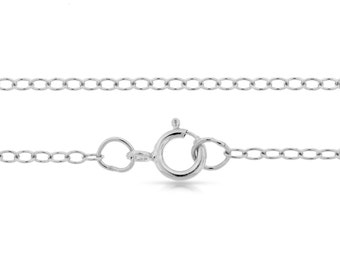 Finished Chains Sterling Silver 2x1.6mm 22 Inch Cable Chain - 5pcs Discounted Prices (2728)/5