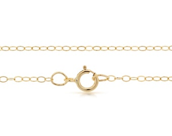 Finished Chains with spring ring clasp Gold Filled 2x1.5mm 24 Inch Flat Cable Chain - 5pcs (2817)