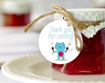 Kitten Favor Tags | Thank You Tags | Baby Shower Decor | Birthday Party deco | INSTANT DOWNLOAD