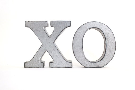 Standing Metal Letters Amazing Xoxo Metal Letters Xo  Hugs And Kisses Tin Letters Design Inspiration