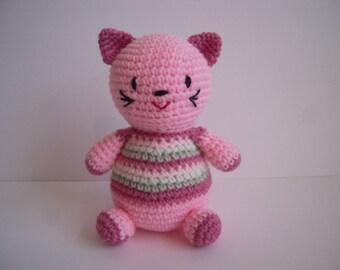 Crocheted Stuffed Agmigurumi Cat