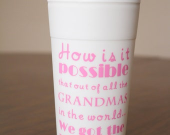 Best Grandma Travel Coffee Mug Personalized How is it possible