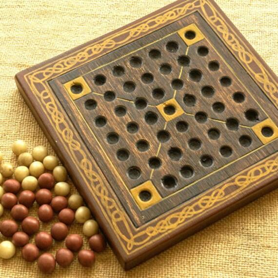 ANCIENT BOARD GAME  - Woodwork - Art - Handmade - Decoration - Gift - Wedding gift - Christmas gift: Halatafl (Viking Game).