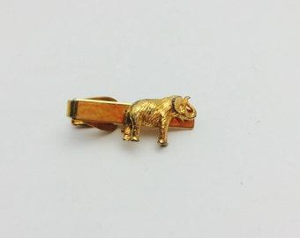 Vintage Elephant tie clip, gold tone, Father's Day sale, item no M010